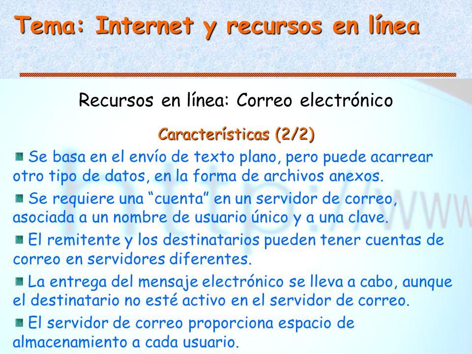 Recursos en línea: Correo electrónico