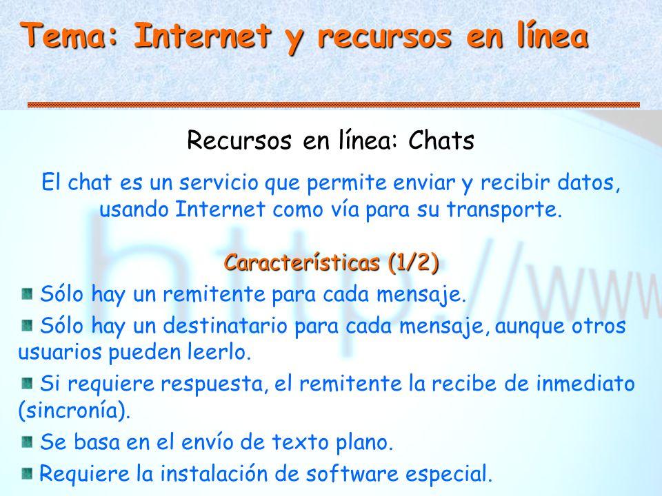Recursos en línea: Chats