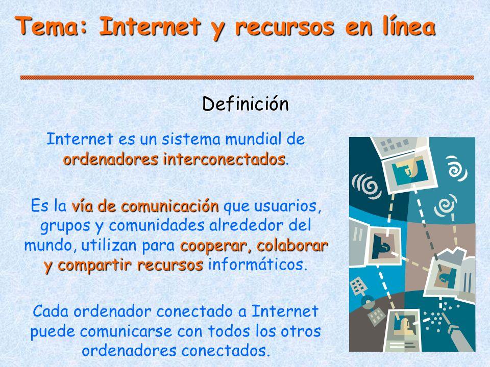 Internet es un sistema mundial de ordenadores interconectados.
