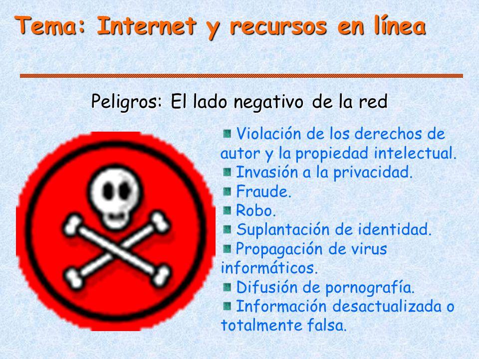 Peligros: El lado negativo de la red