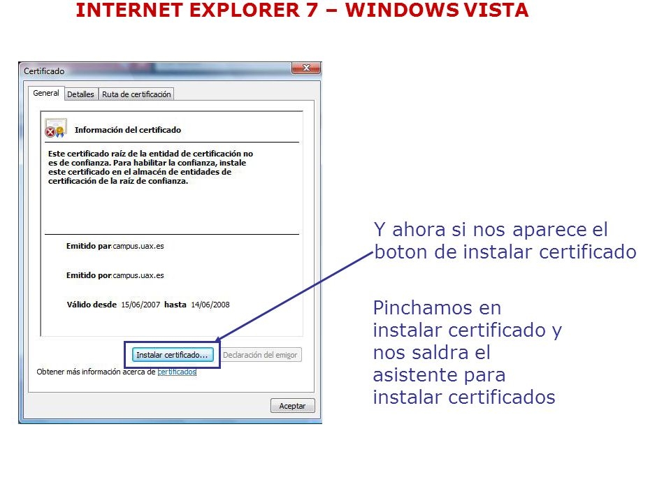 INTERNET EXPLORER 7 – WINDOWS VISTA