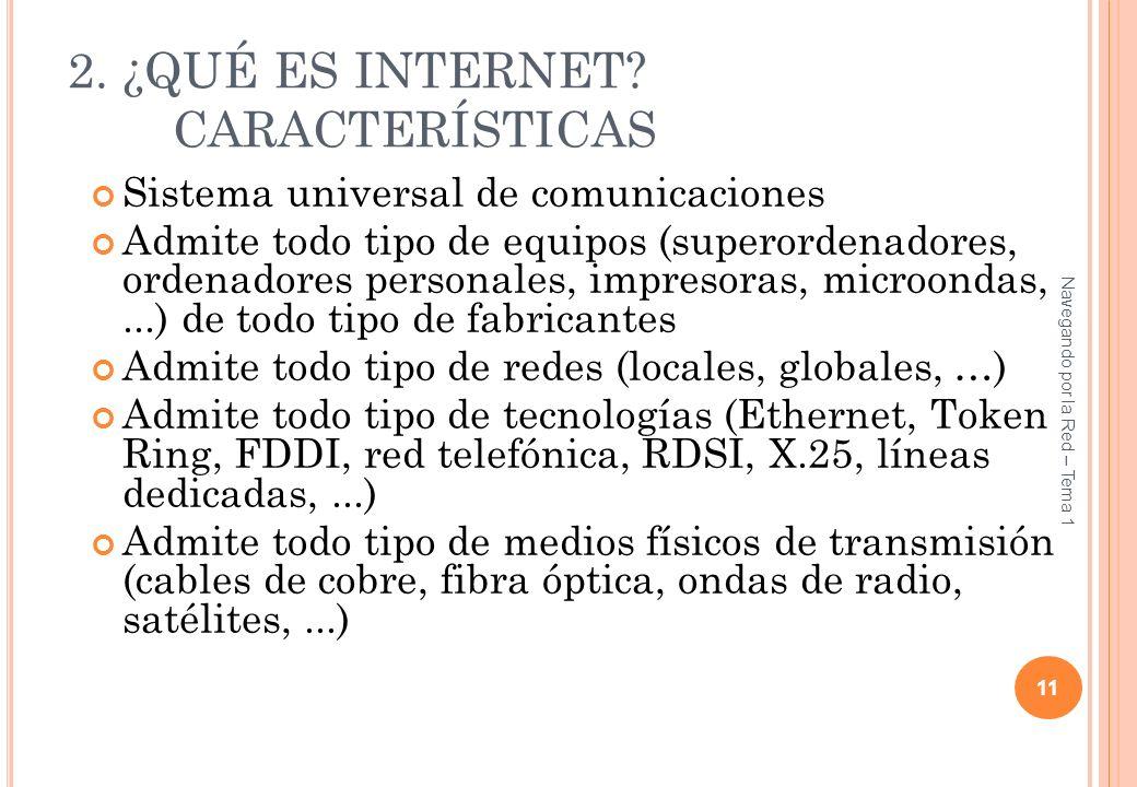 2. ¿QUÉ ES INTERNET CARACTERÍSTICAS