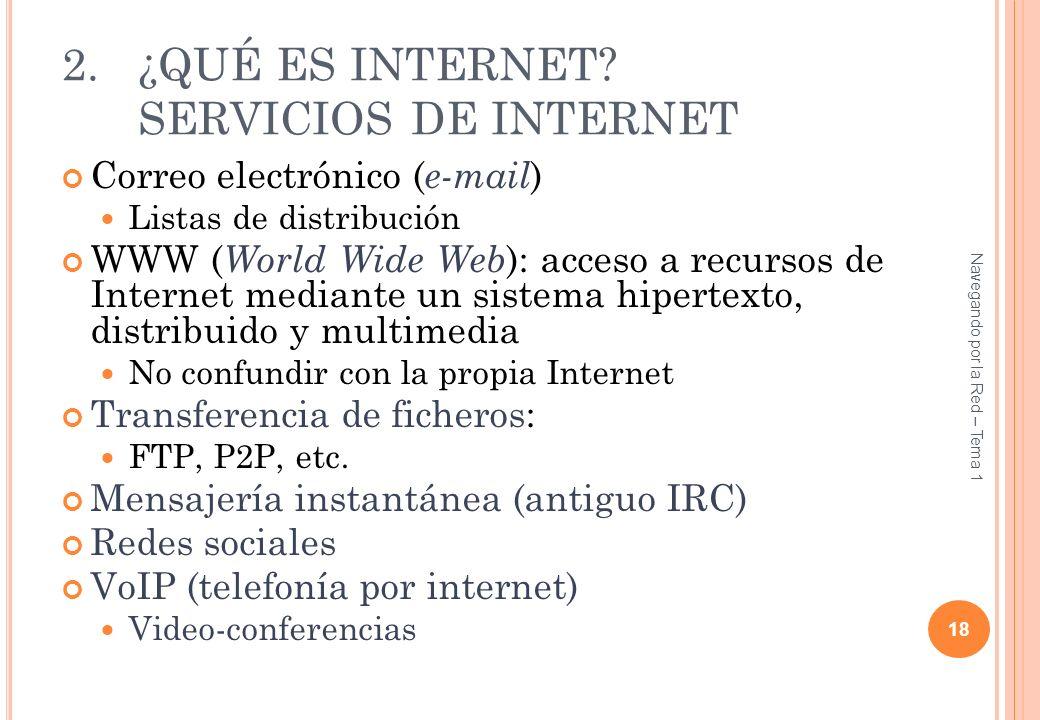¿QUÉ ES INTERNET SERVICIOS DE INTERNET