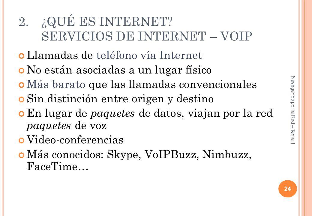 ¿QUÉ ES INTERNET SERVICIOS DE INTERNET – VOIP