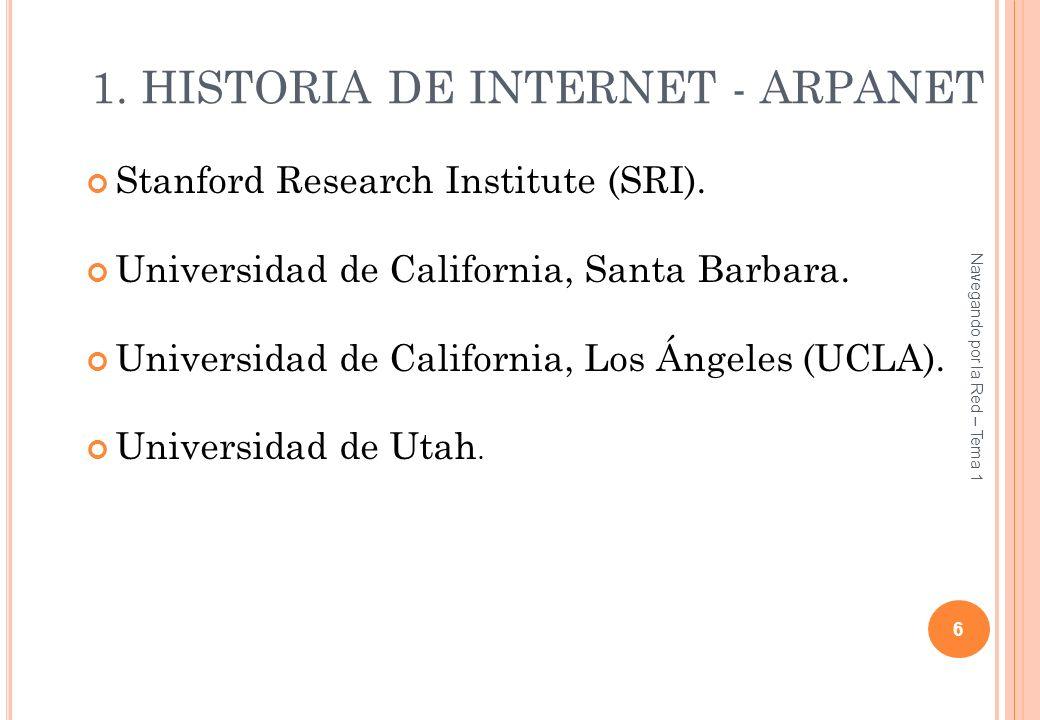 1. HISTORIA DE INTERNET - ARPANET