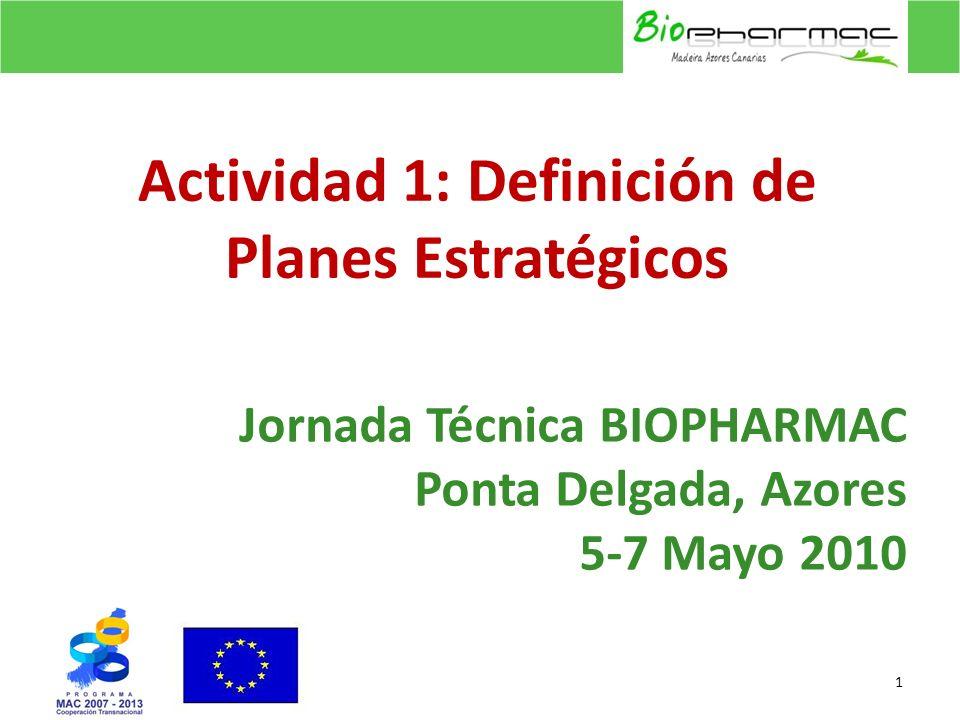 Jornada Técnica BIOPHARMAC Ponta Delgada, Azores 5-7 Mayo 2010