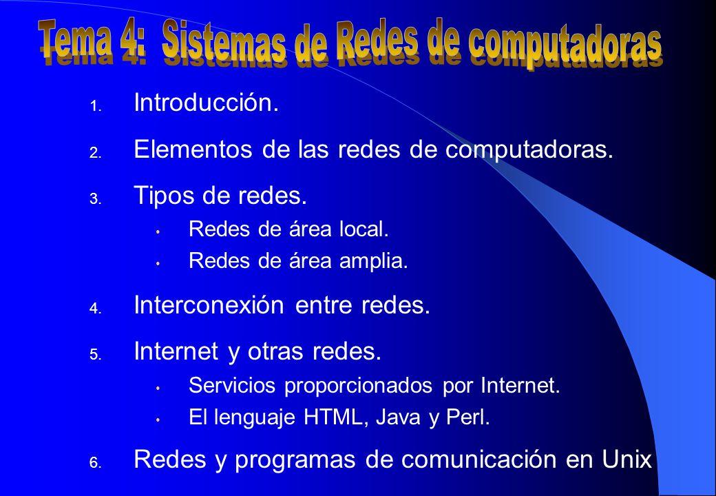 Tema 4: Sistemas de Redes de computadoras