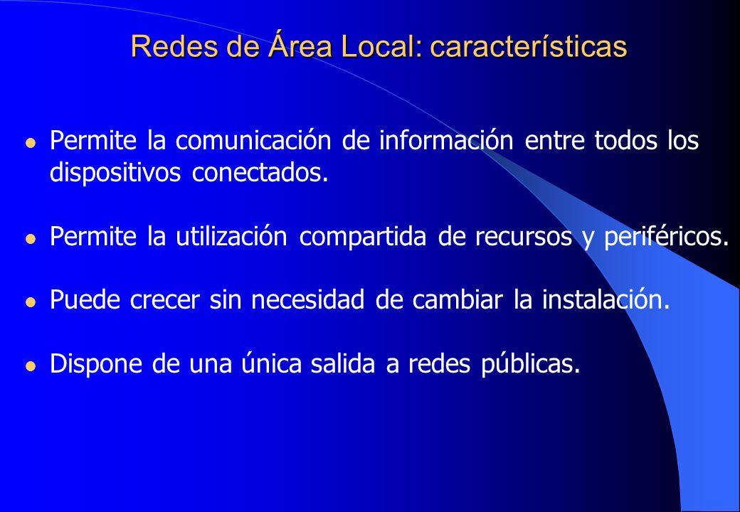 Redes de Área Local: características