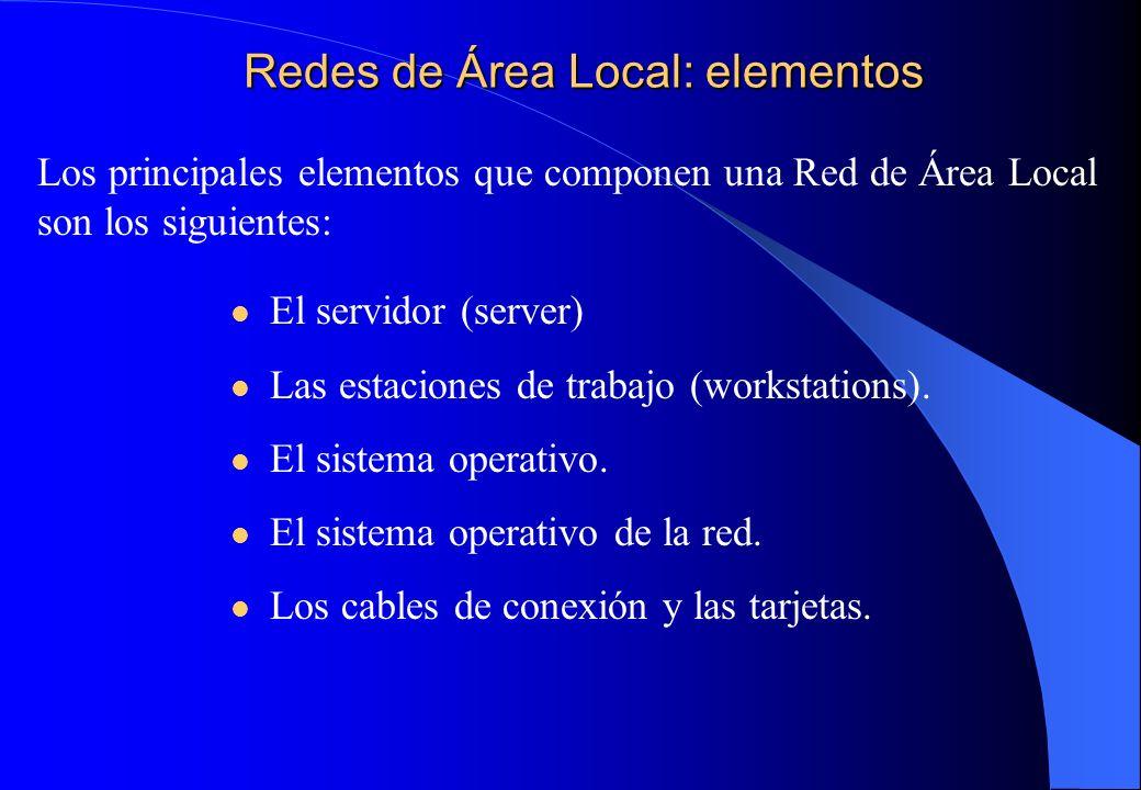 Redes de Área Local: elementos