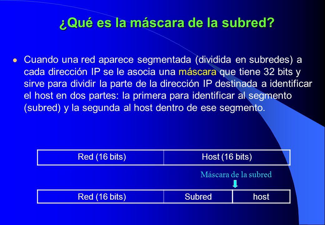 ¿Qué es la máscara de la subred