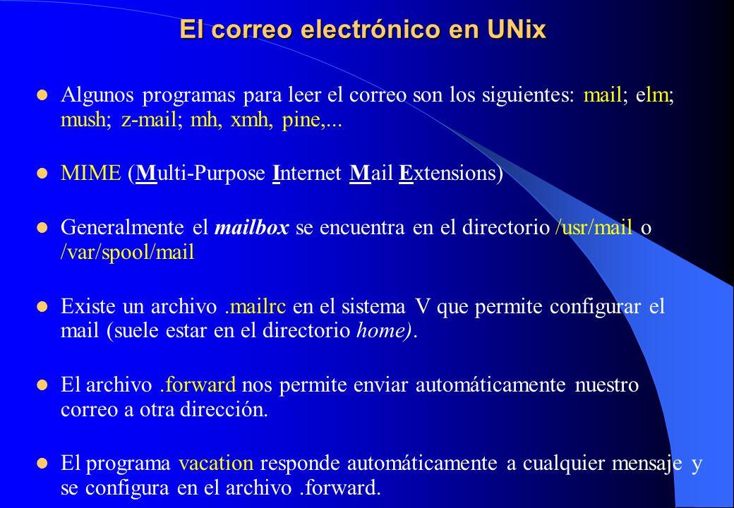 El correo electrónico en UNix