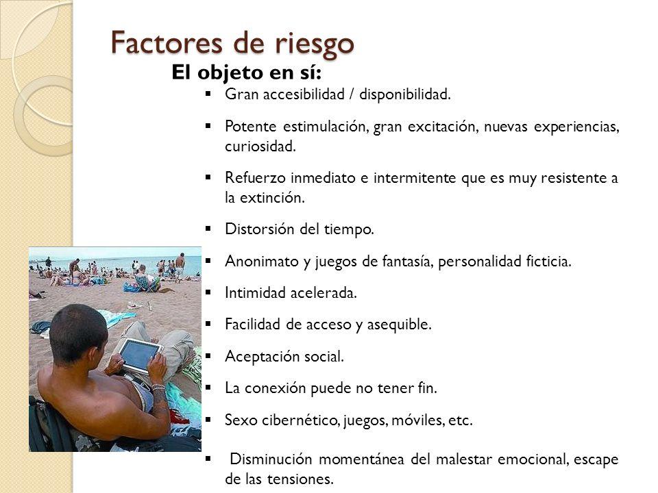 Factores de riesgo El objeto en sí:
