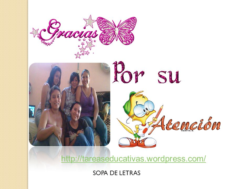 http://tareaseducativas.wordpress.com/ SOPA DE LETRAS