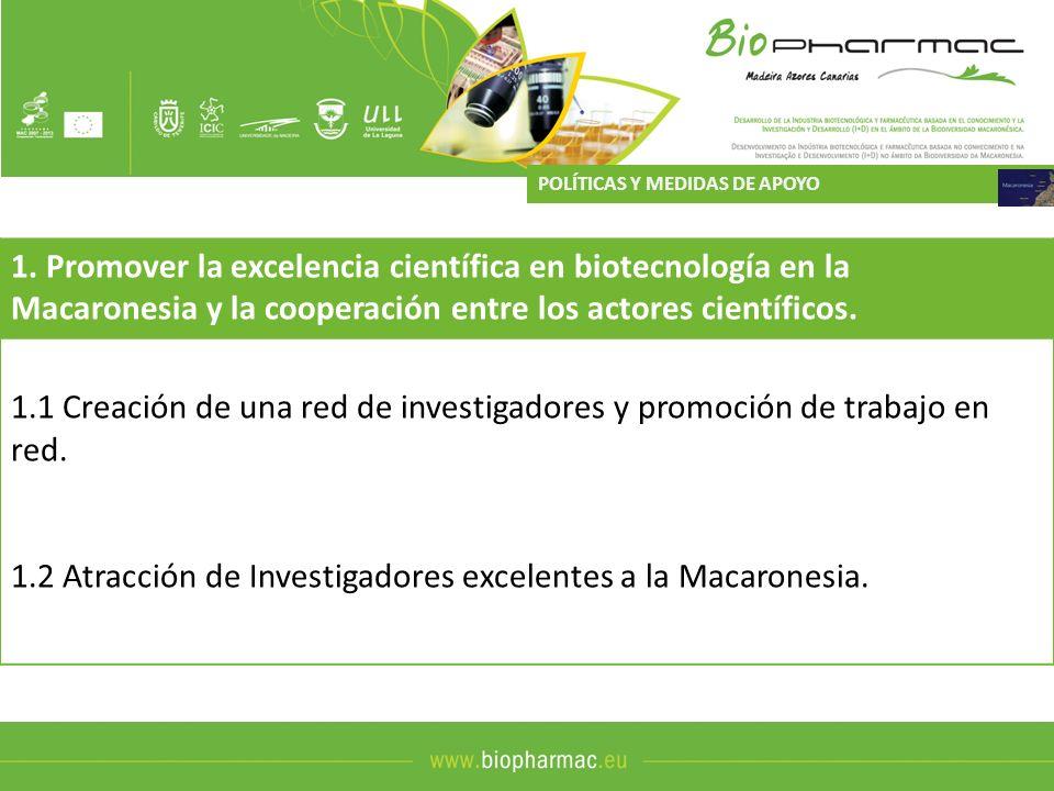 1.2 Atracción de Investigadores excelentes a la Macaronesia.