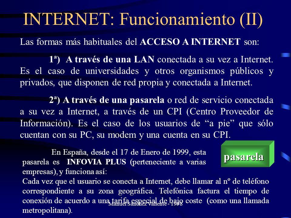 INTERNET: Funcionamiento (II)