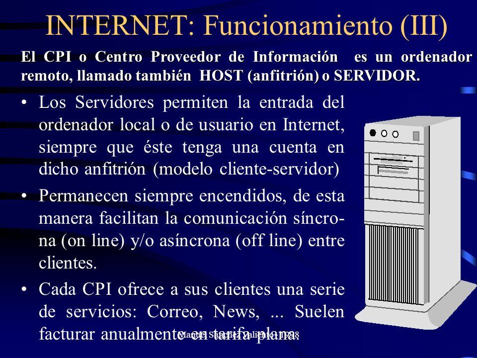 INTERNET: Funcionamiento (III)