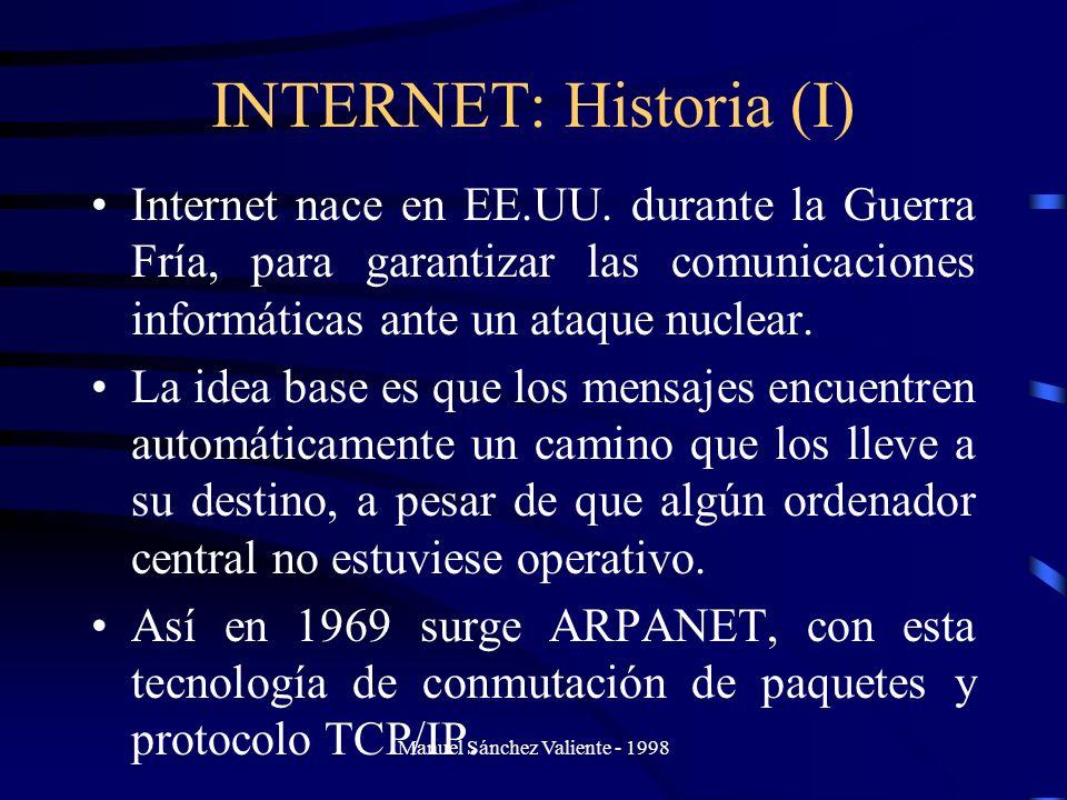INTERNET: Historia (I)
