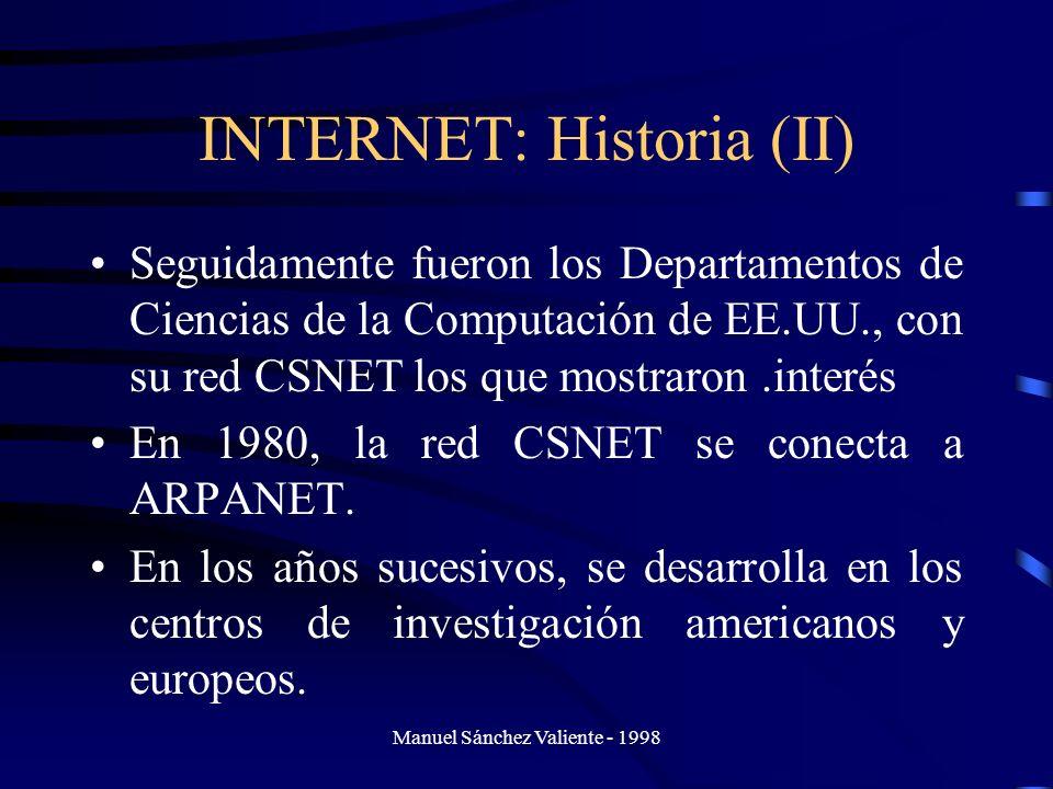 INTERNET: Historia (II)