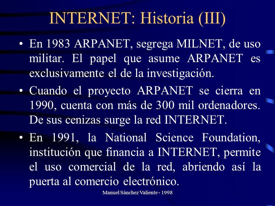 INTERNET: Historia (III)