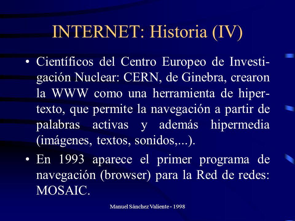 INTERNET: Historia (IV)