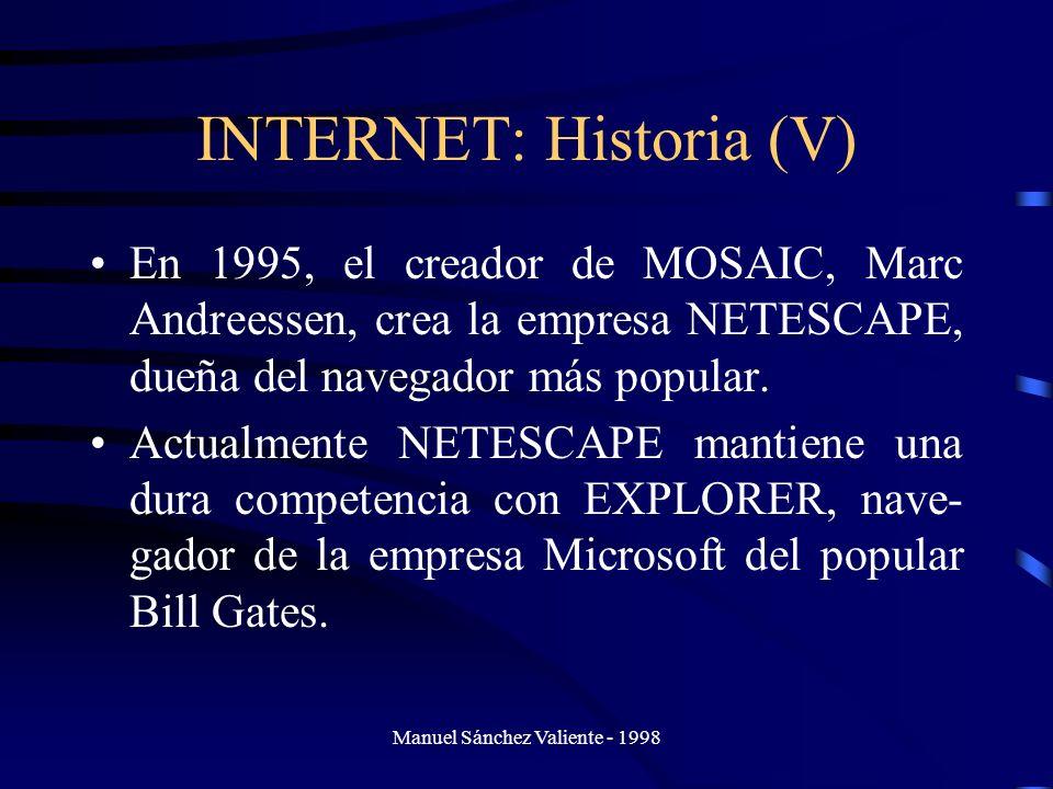INTERNET: Historia (V)