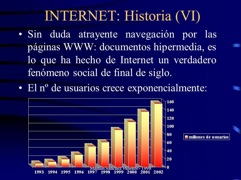 INTERNET: Historia (VI)