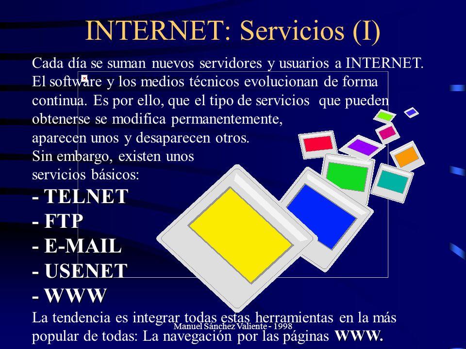 INTERNET: Servicios (I)