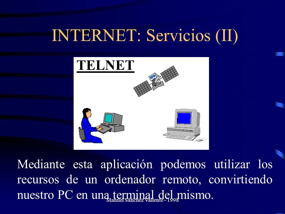 INTERNET: Servicios (II)