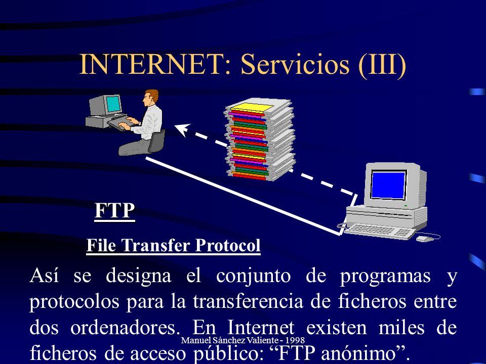 INTERNET: Servicios (III)