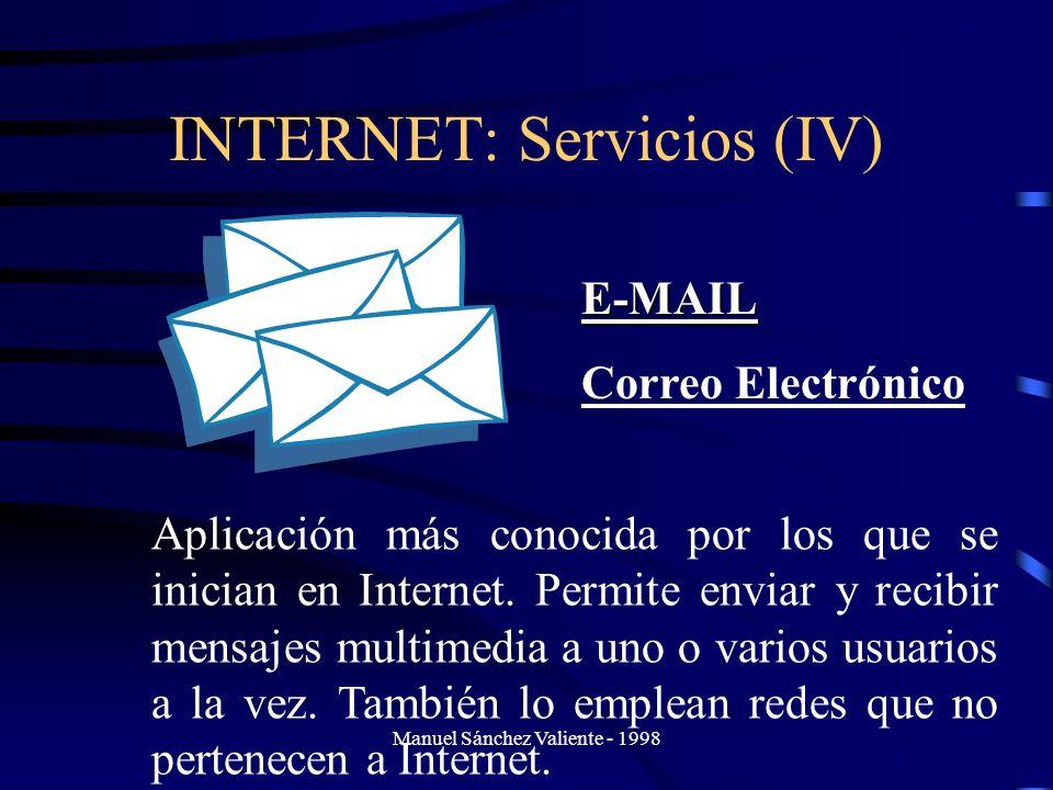 INTERNET: Servicios (IV)