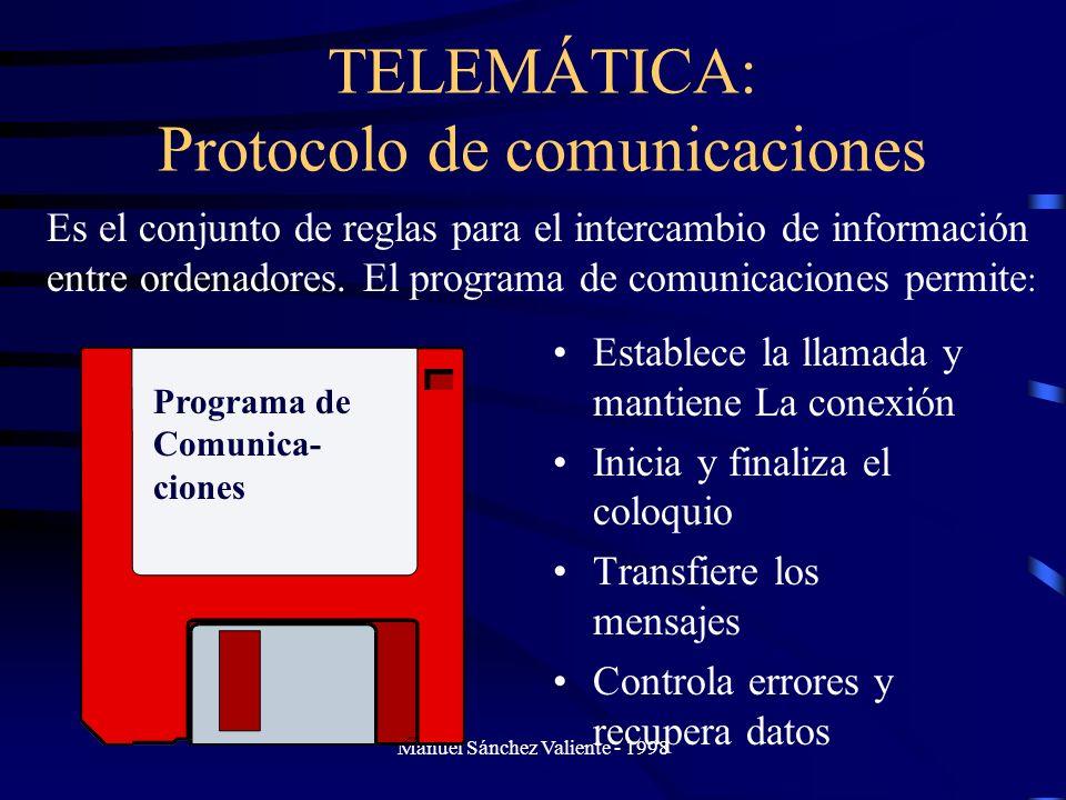 TELEMÁTICA: Protocolo de comunicaciones