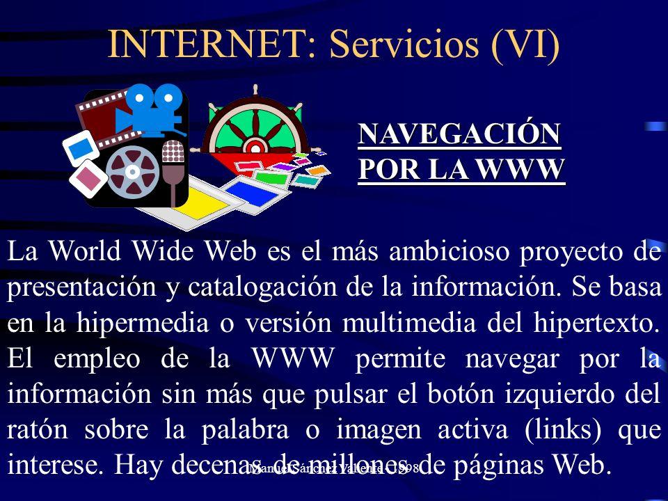 INTERNET: Servicios (VI)
