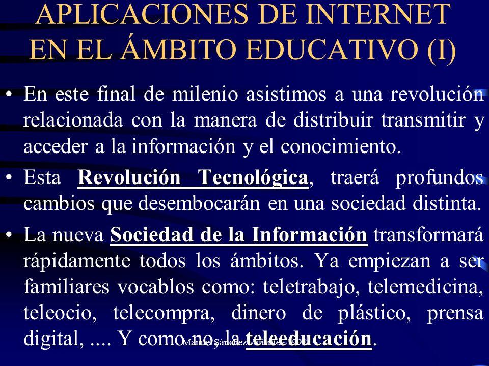 APLICACIONES DE INTERNET EN EL ÁMBITO EDUCATIVO (I)