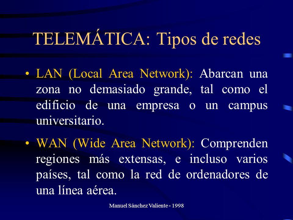 TELEMÁTICA: Tipos de redes