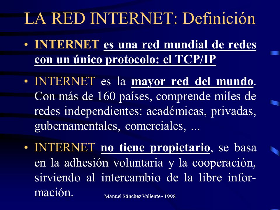 LA RED INTERNET: Definición