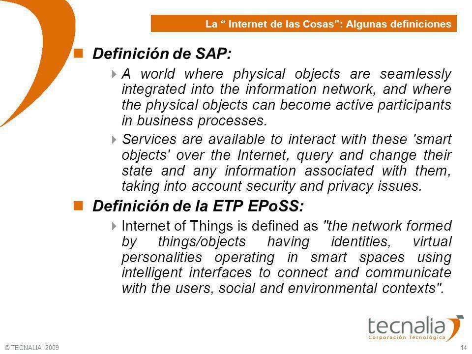 La Internet de las Cosas : Algunas definiciones