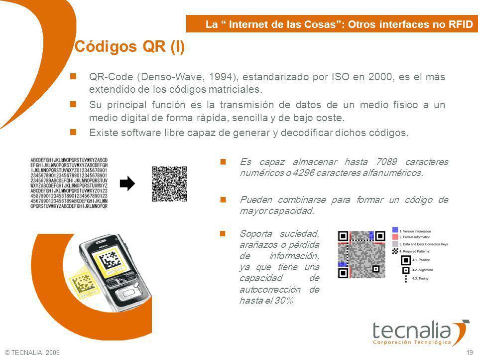 Códigos QR (I) La Internet de las Cosas : Otros interfaces no RFID