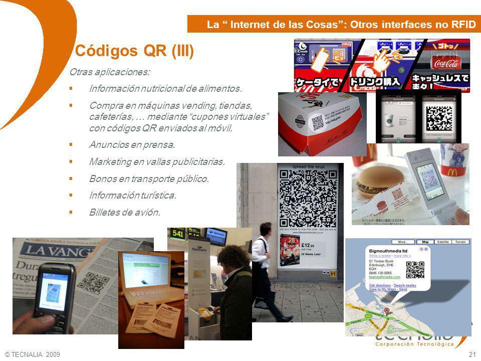 Códigos QR (III) La Internet de las Cosas : Otros interfaces no RFID