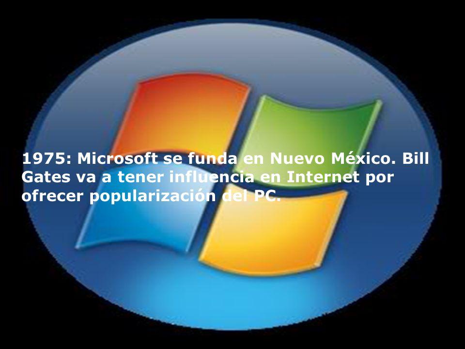 1975: Microsoft se funda en Nuevo México