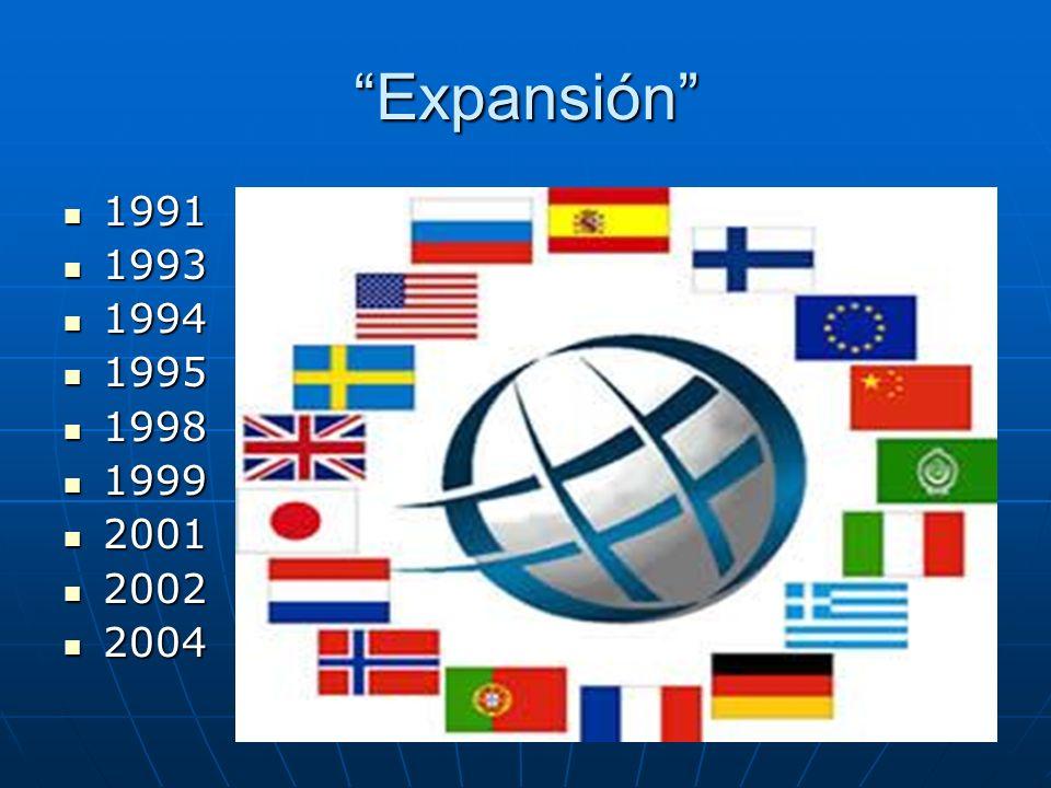 Expansión 1991 1993 1994 1995 1998 1999 2001 2002 2004