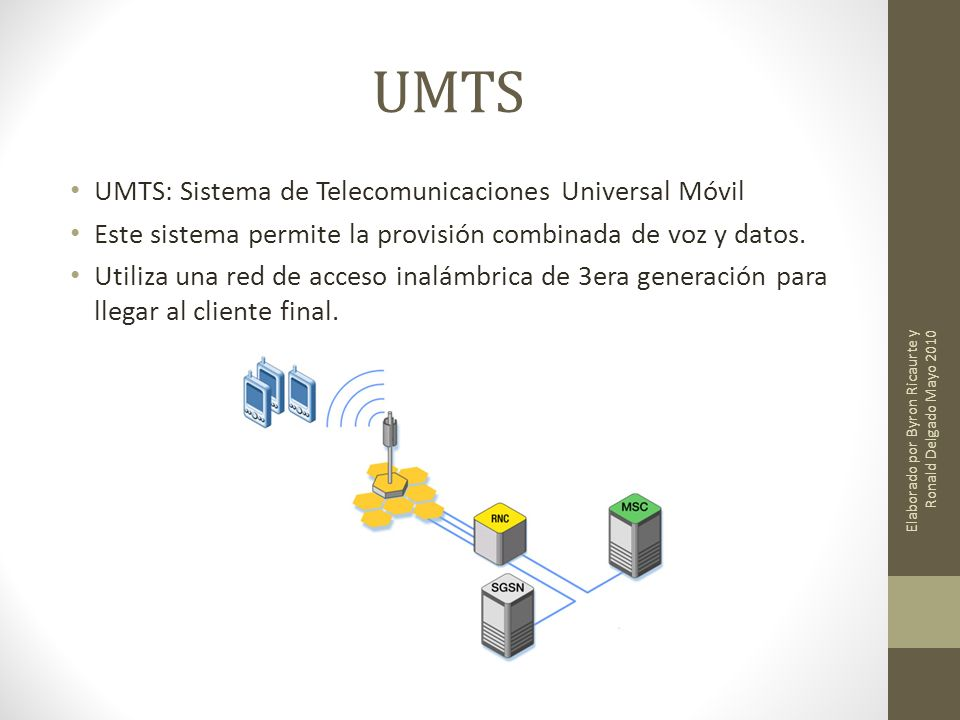 UMTS UMTS: Sistema de Telecomunicaciones Universal Móvil