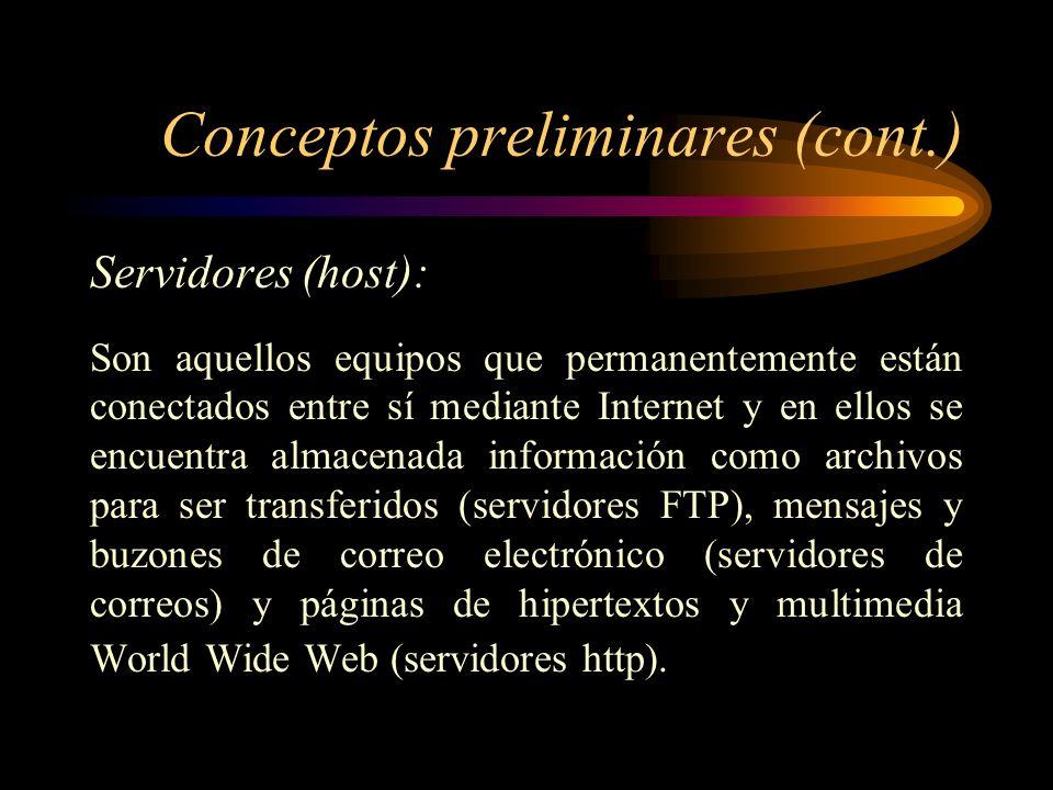Conceptos preliminares (cont.)