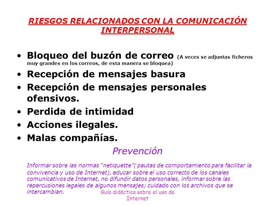 RIESGOS RELACIONADOS CON LA COMUNICACIÓN INTERPERSONAL