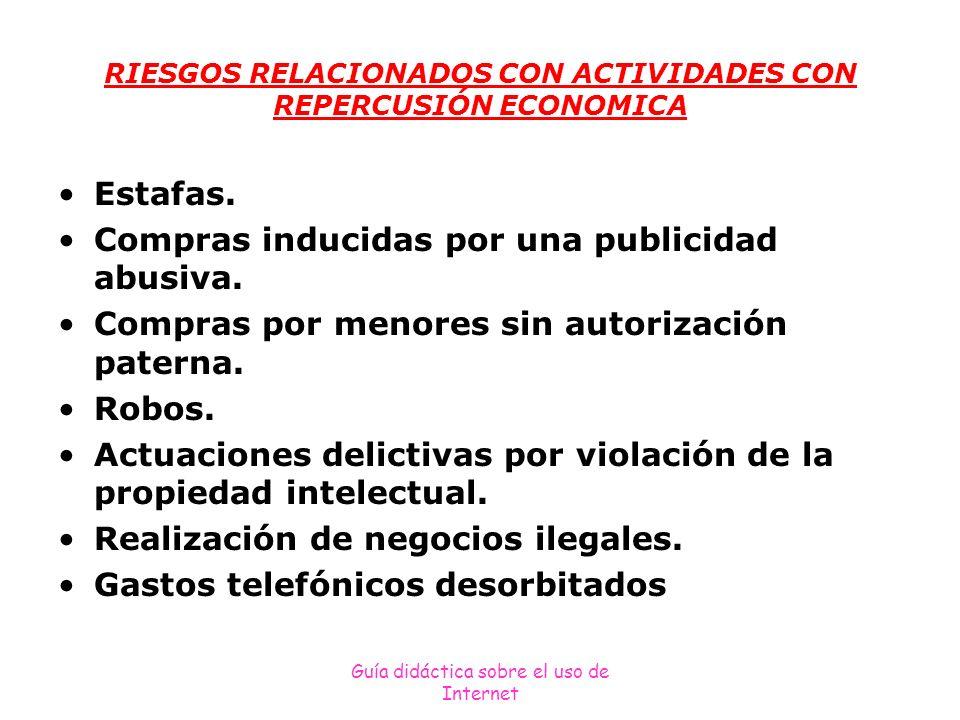 RIESGOS RELACIONADOS CON ACTIVIDADES CON REPERCUSIÓN ECONOMICA