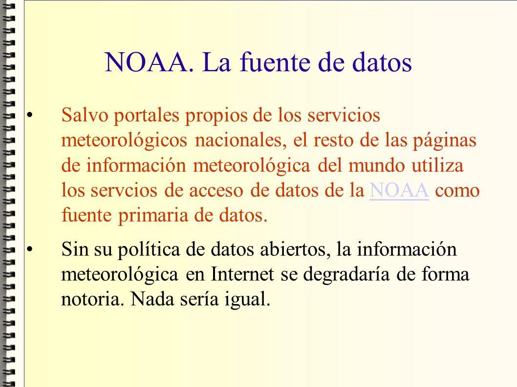 NOAA. La fuente de datos