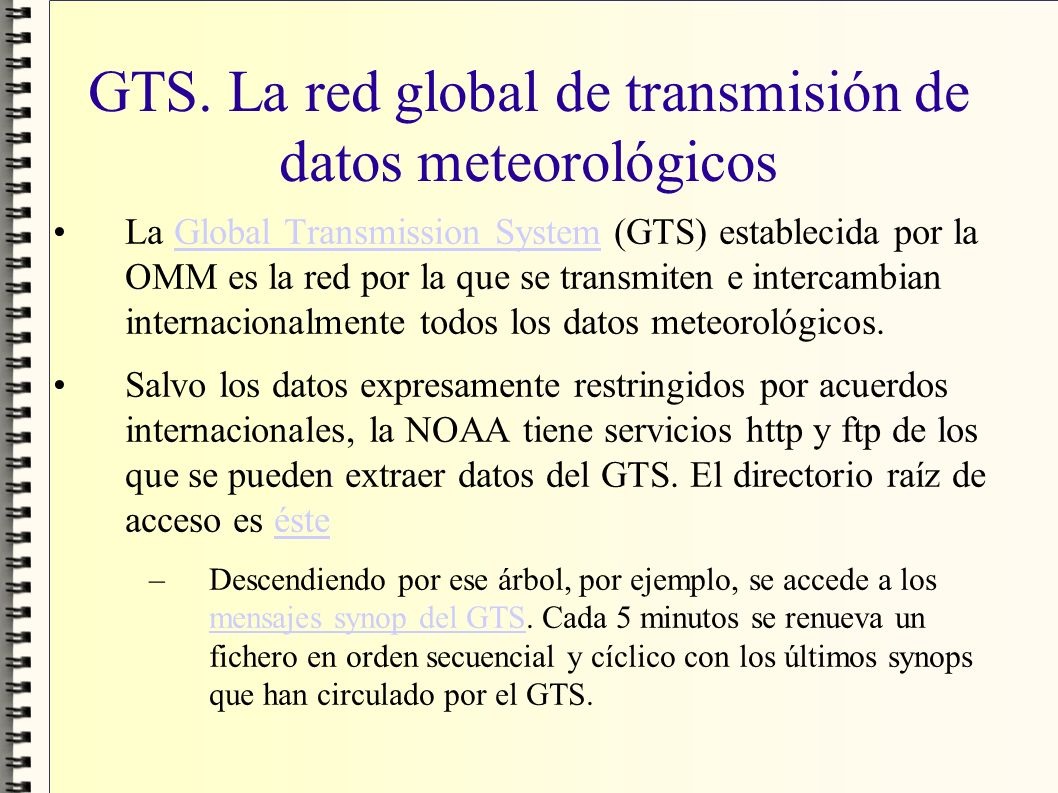 GTS. La red global de transmisión de datos meteorológicos