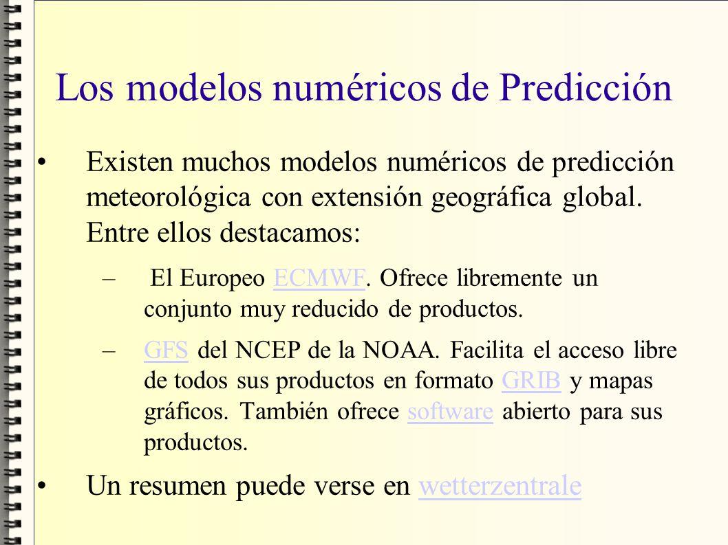 Los modelos numéricos de Predicción