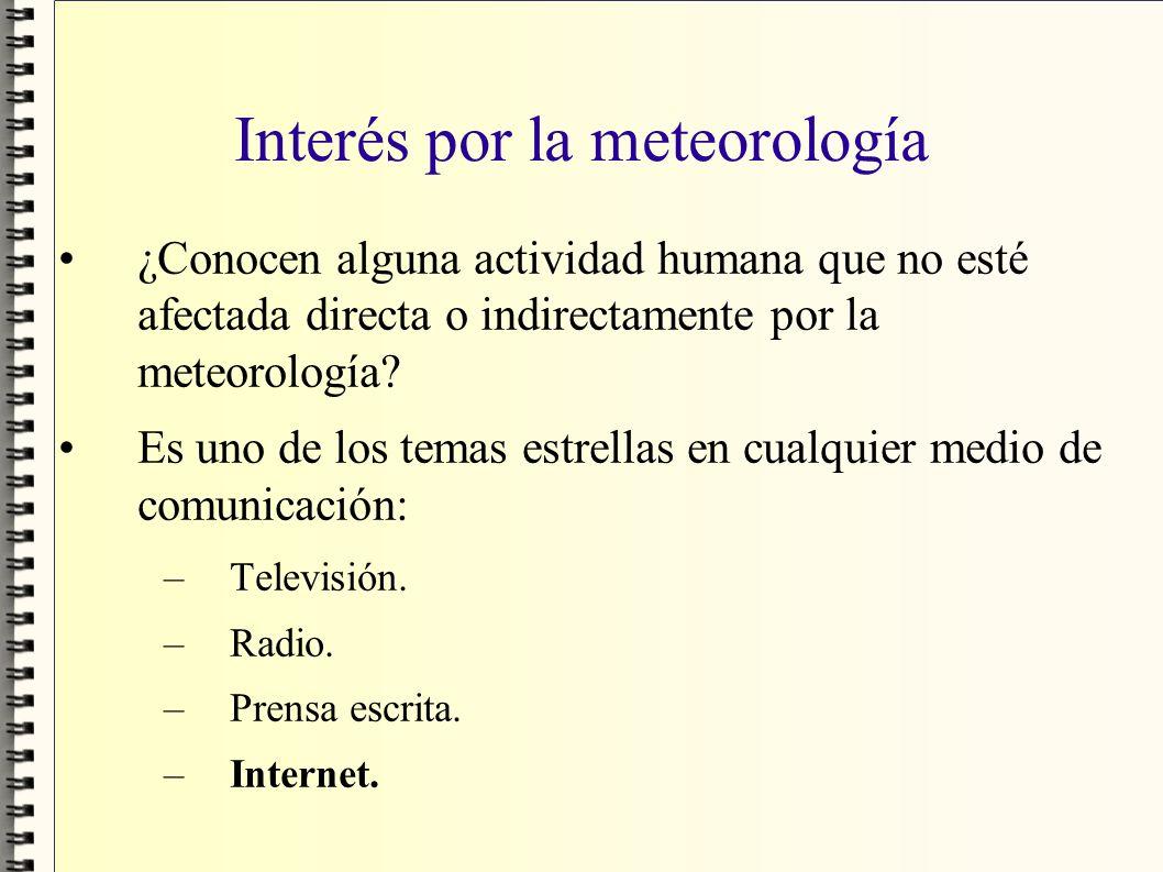 Interés por la meteorología
