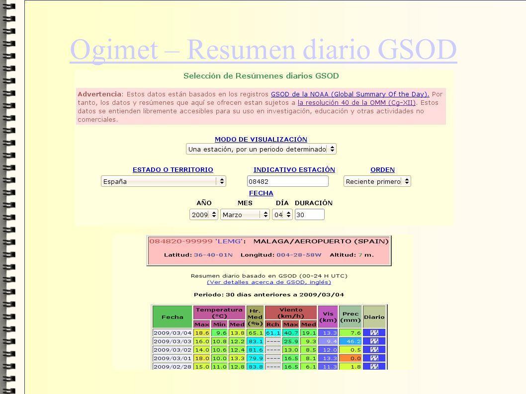 Ogimet – Resumen diario GSOD