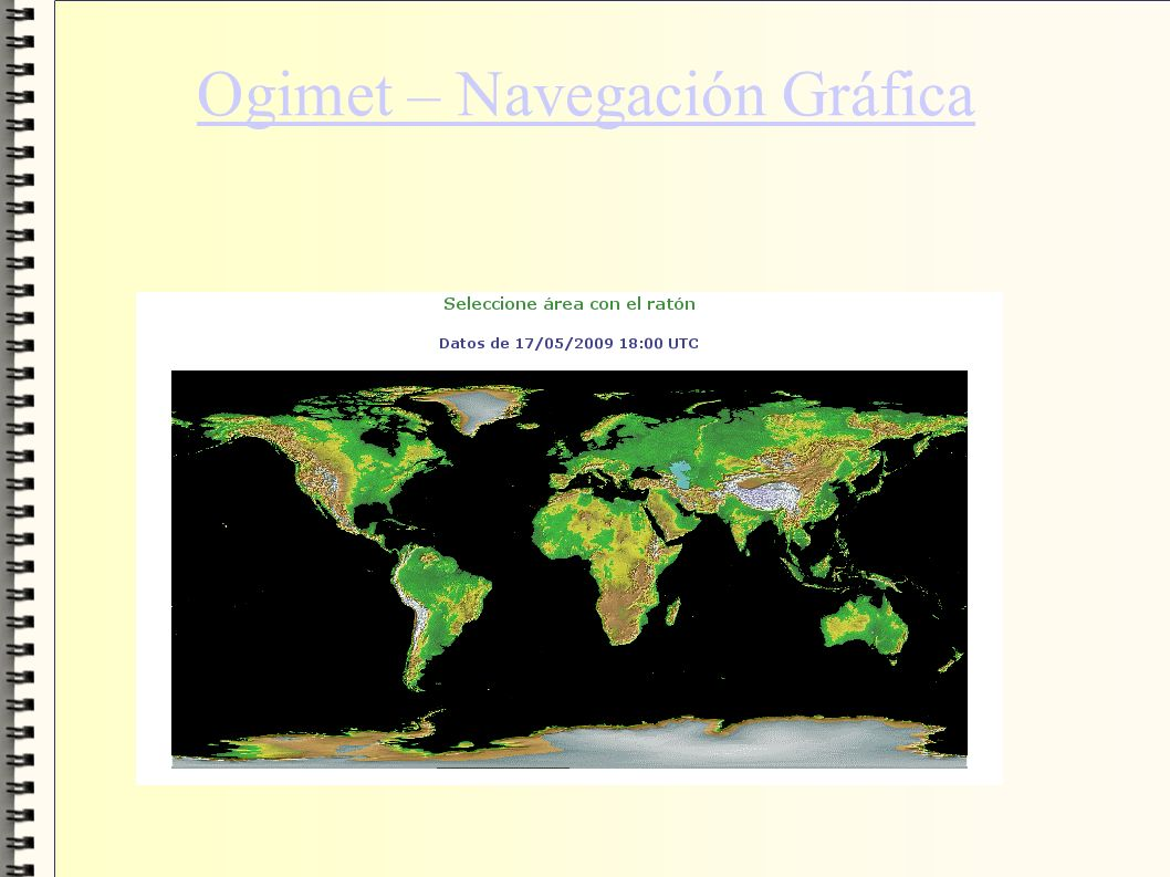 Ogimet – Navegación Gráfica